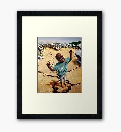 Help Haiti Framed Print