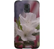 American Beauty ~ American Flag with White Azalea Flowers Samsung Galaxy Case/Skin