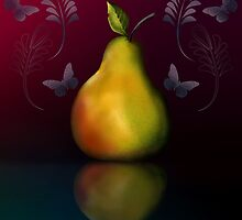 Pear with reflection by Ann Nightingale