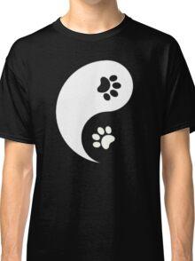 Yin and Yang - Paw Prints Classic T-Shirt