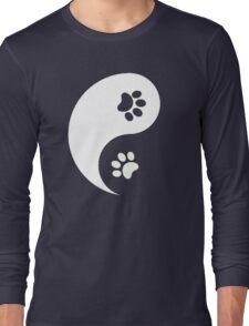Yin and Yang - Paw Prints Long Sleeve T-Shirt