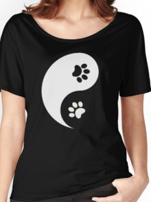 Yin and Yang - Paw Prints Women's Relaxed Fit T-Shirt