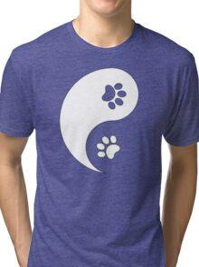 Yin and Yang - Paw Prints Tri-blend T-Shirt