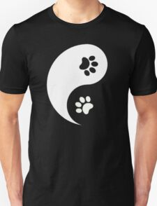 Yin and Yang - Paw Prints T-Shirt