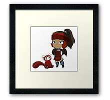 Korra and Pabu Framed Print
