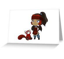 Korra and Pabu Greeting Card