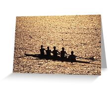 """""""Silhouetted Crew Team"""" Greeting Card"""
