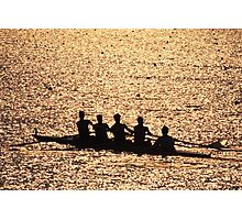 """Silhouetted Crew Team"" Photographic Print"