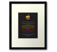 Apple/ Steve Jobs The Crazy Ones  Framed Print