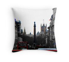 Sights And Sounds Of London Throw Pillow