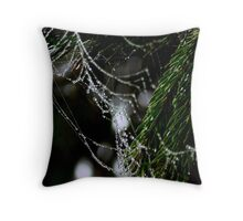 Strings of Dew Throw Pillow