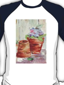 Violets in a pot T-Shirt