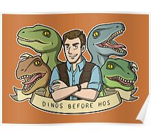 Dinos Before Hos Poster