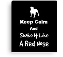 Keep Calm and Shake It Like a Red Nose Canvas Print