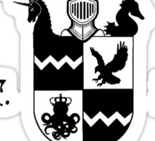 Silas University (Black)  Sticker