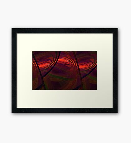 Abby Stract Framed Print