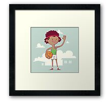 Basket boy Framed Print
