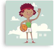 Basket boy Canvas Print