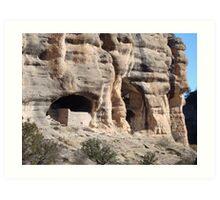 Gila Cliff Dwellings in Arizona Art Print