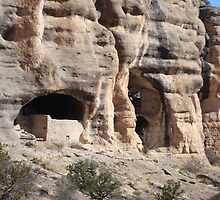 Gila Cliff Dwellings in Arizona by Susan Russell