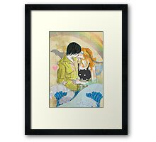 Textbook Love [peach & shadow] Framed Print
