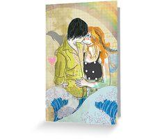Textbook Love [peach & shadow] Greeting Card
