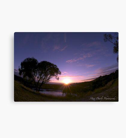Blue Lake in Twilight, Mt.Gambier,South Australia Canvas Print