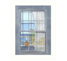 Monhegan Island Window View Art Print