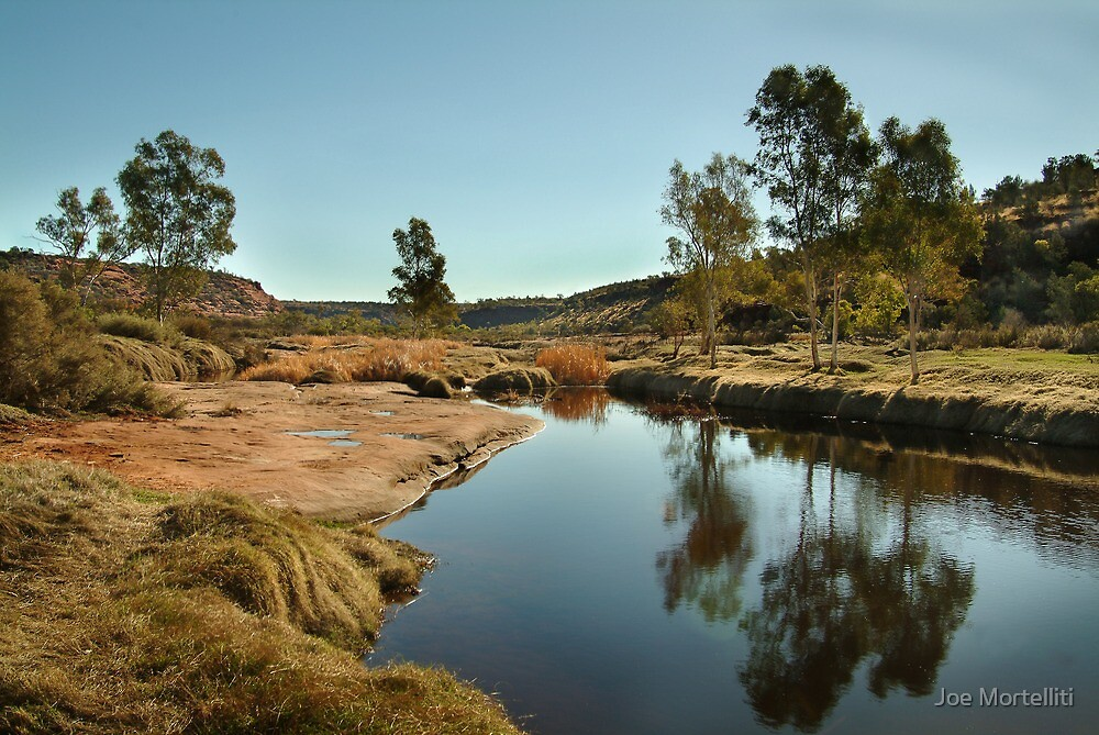 The Ancient Finke River at Palm Valley,N.T. by Joe Mortelliti