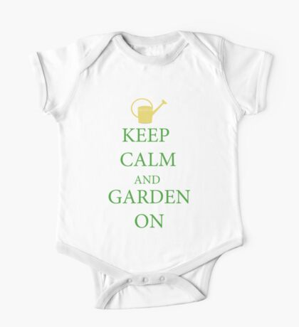 Keep calm and garden on. for nature, garden lovers. One Piece - Short Sleeve