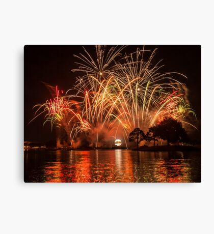 Celebrate! Illuminations Reflections of Earth at Epcot Canvas Print