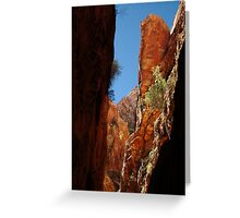 Standley Chasm,N.T. Greeting Card