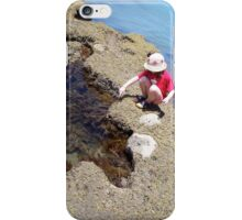 Girl Crouching By Pool iPhone Case/Skin