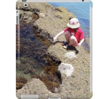 Girl Crouching By Pool iPad Case/Skin