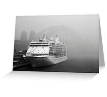 Cruise Ship BW Greeting Card