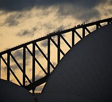 The Climb - Sydney Harbour Bridge Sunset by Karl Lindsay