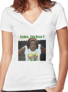 Sanka Yuh Dead? Cool Runnings Women's Fitted V-Neck T-Shirt