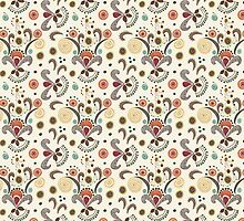 Wired Flower Pattern by Janet Antepara