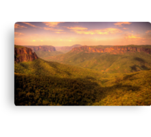 Leap of Faith - Govetts Leap, Blue Mountains World Heritage Area - The HDR Experience Canvas Print
