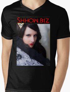 Shhow Biz Victorian Geisha Mens V-Neck T-Shirt