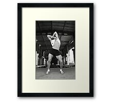 Get wild and dance Framed Print