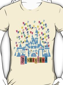 Vintage Disneyland Castle and Balloons T-Shirt