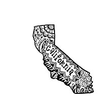 Hipster California Zentangle Photographic Print
