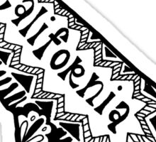 Hipster California Zentangle Sticker