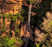 Bridal Veil - Govetts Leap Falls , Blackheath Blue Mountains World Heritage Area - The HDR Experience by Philip Johnson