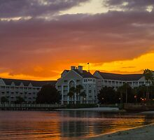 Disney's Yacht Club Resort at Sunset by jjacobs2286