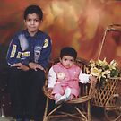 Little Haj and brother by Bobby Dar