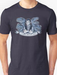 Dinos Before Hos (monochrome blue) T-Shirt