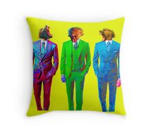 Monkey Suits Throw Pillow