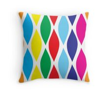 CANDY SHOP WAVES Throw Pillow